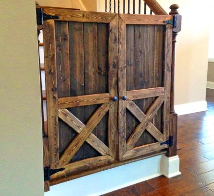 People Are Making Barn Door Baby Gates, Window Shutters, and TV Covers, and They Look Amazing