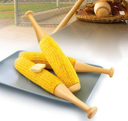 Baseball Bat Corn Cob Holders
