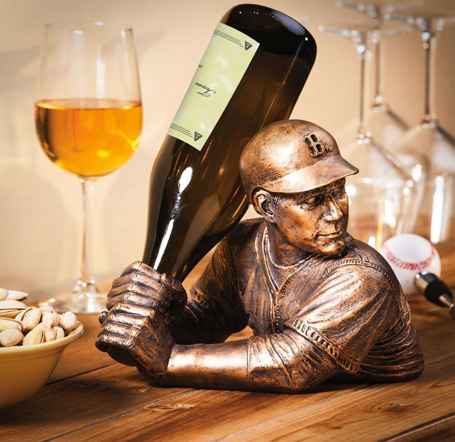 Football Player Wine Bottle Holder  Soccer Wine Holder