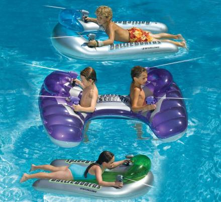 These Pool Floats Have Integrated Squirt Guns So Your Kids Can Have Epic Battles In The Pool