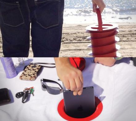Beach Vault: Screws Into The Sand At Beach To Protect Belongings From Thieves