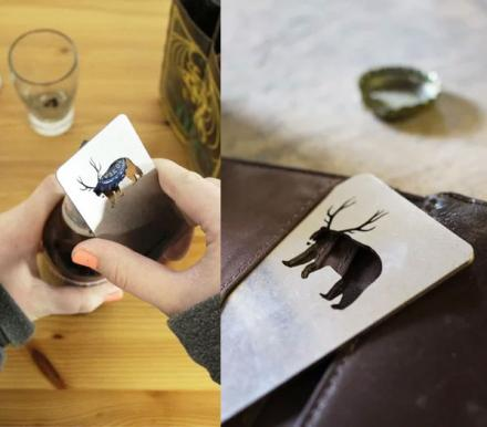 Bear + Deer = Beer | Bear With Antlers Bottle Opener