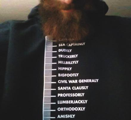 There's Now a Beard Measuring Shirt That'll Measure How Long You've Been In Quarantine