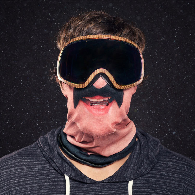 Beardo Ski Mask Guy With Mustache
