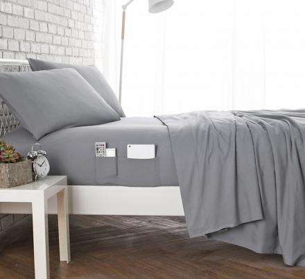 These Bed Sheets Have Pockets On Both Sides Of The Bed For Easy Access To Your Items