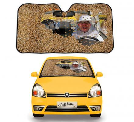 There's a Car Sunshade That Makes It Look Like Your Car Is Filled With Bees