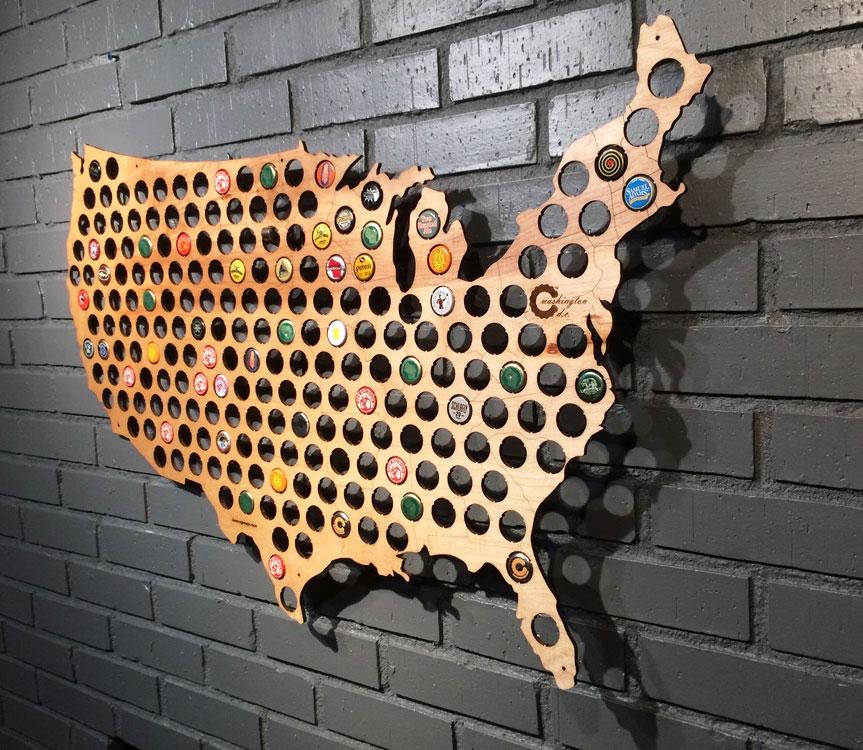 beer cap maps enlarge image