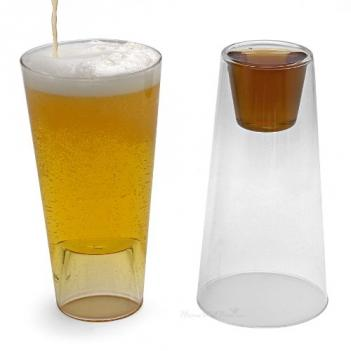 Beer Drinking Glass With Shot Glass