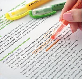 Beetle Tip 3 Way Highlighter Pens