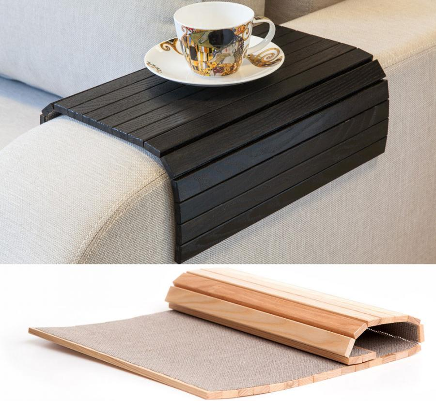 The Bendable Sofa Tray Is A Unique Wooden Tray That You Can Set On The Arm  Of Your Sofa And It Will Bend And Fit The Shape Of It So You Have ...