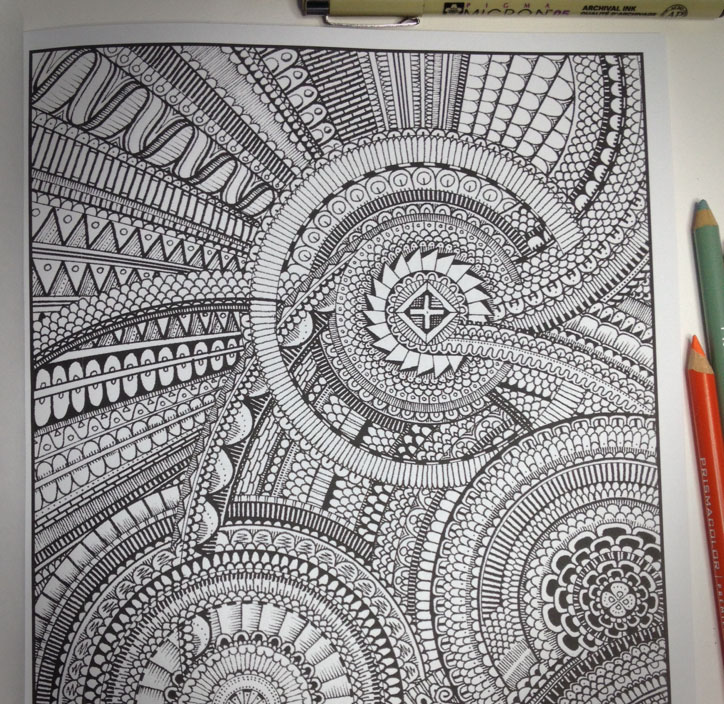 Between The Lines An Impossible Coloring Book