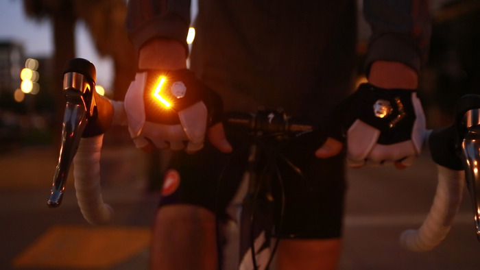 Zackees LED Turn Signal Gloves - Bicycle Gloves With Turn Signals