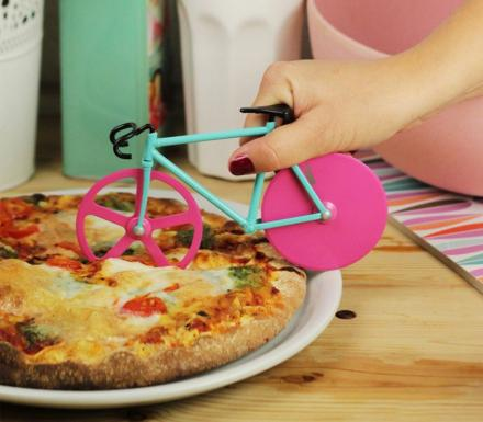 There's a Bicycle Shaped Pizza Cutter That Exists, For When You Need To Carbo Load