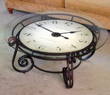 Big Analog Clock Table