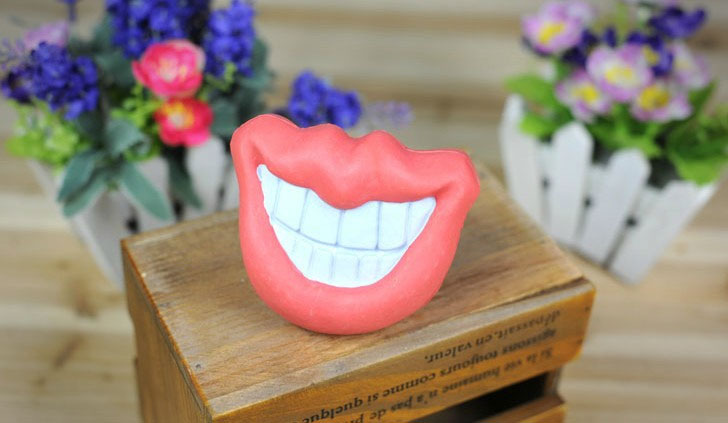 Big Lips and Smile Mouth Shaped Dog Toy
