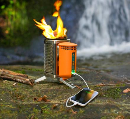 Biolite Camp-Stove Charges Your Phone Using Heat From The Fire
