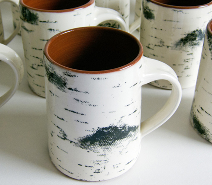 Home Designer: Birch Bark Coffee Mug Looks Like A Birch Tree