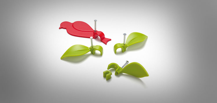 Bird and Leaf Cable Clips