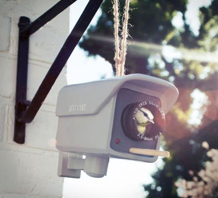 Birdhouse That Looks Like a CCTV Security Camera