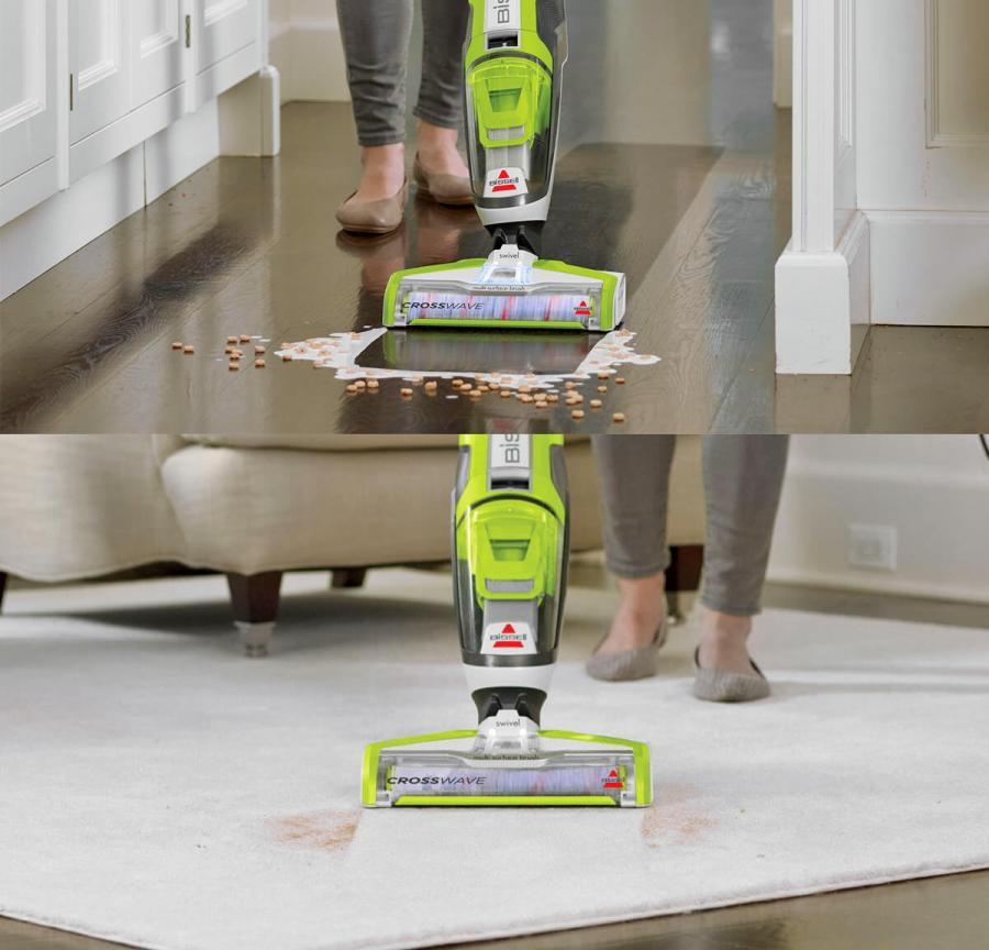 Bissel Crosswave Vacuum Wet Dry Floor And Carpet Cleaner