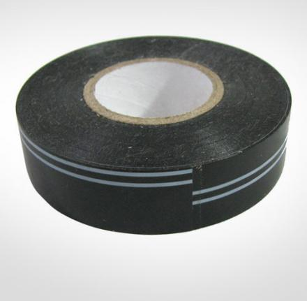 Black Electrical Tape With a Stripe Around It