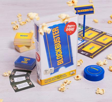 There's a Blockbuster Party Game That Comes in a Nostalgic Blockbuster VHS Tape