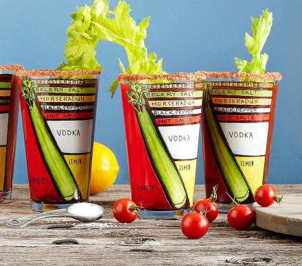 Bloody Mary Ingredients Diagram Glasses