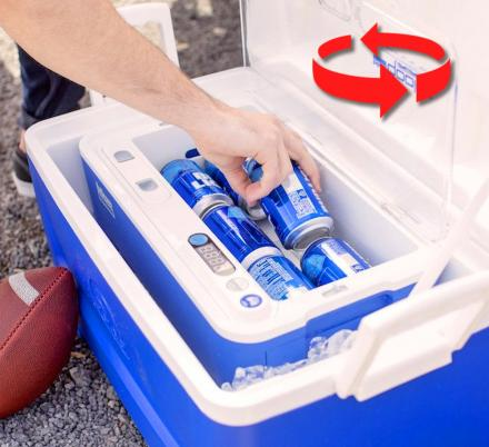 Blue Quench Qooler Chills Your Beverages In Seconds