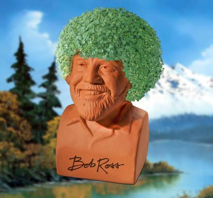 Bob Ross Chia Pet Lets You Grow a Happy Little Bush on Bob's Head