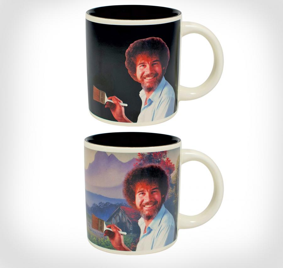 Bob Ross Heat Changing Mug Makes a Painting Appear