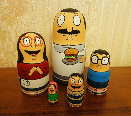 Bob's Burgers Family Nested Matryoshka Dolls