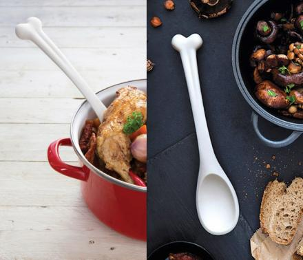 Bone Appétit Spoon: A Bone Shaped Cooking Spoon