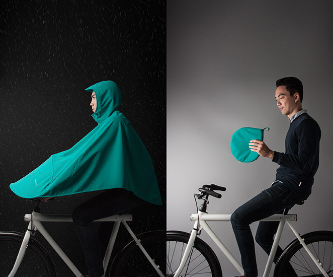Boncho A Full Body Poncho For Riding Your Bicycle In The Rain