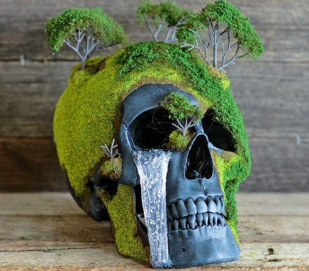 Bonsai Skulls Are Faux Human Skulls Made Into Nature-esque Art Pieces