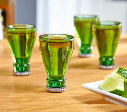 Bottle Tops Shot Glasses (Set of 4)