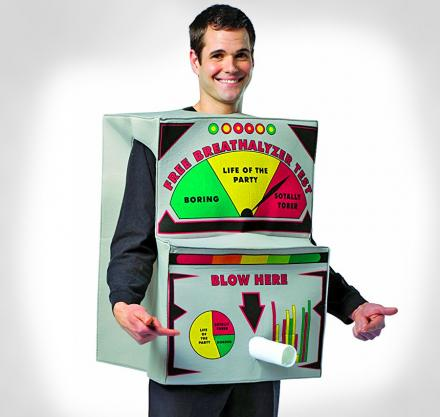 Breathalyzer Costume - Blow Here Alcohol Test Halloween Costume