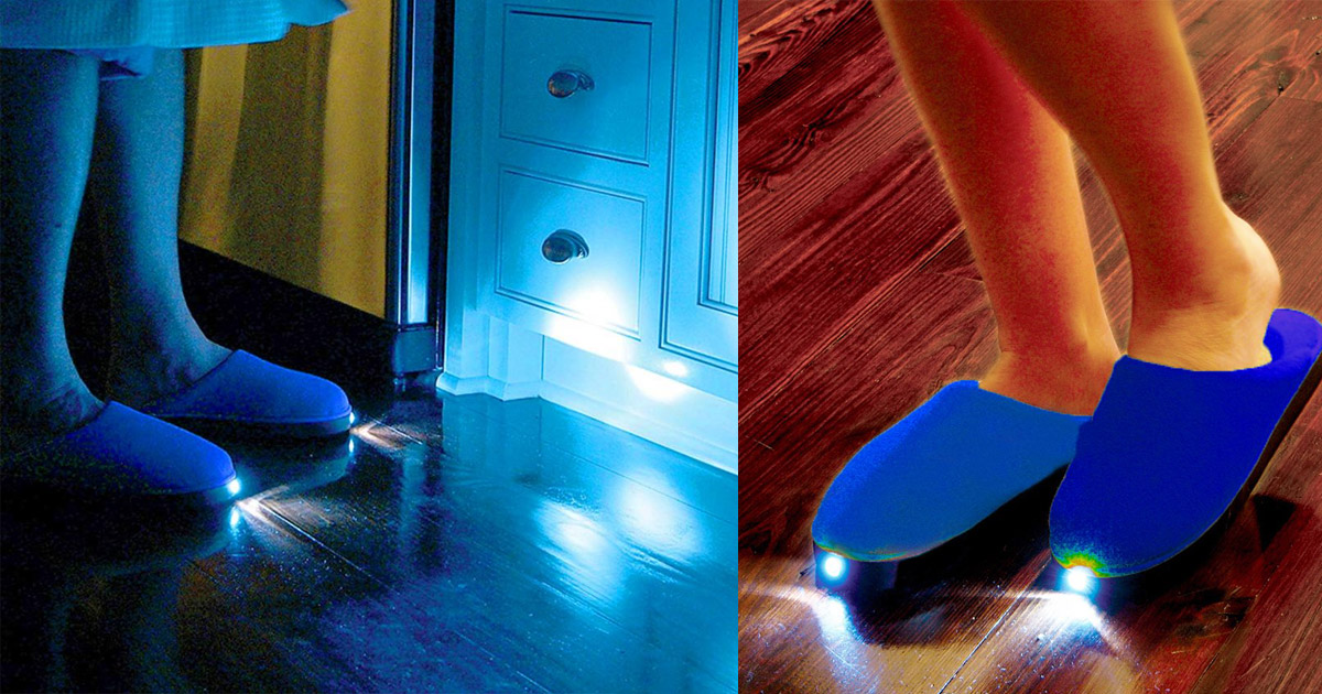 Bright Feet Lighted Slippers - Flashlight Slippers