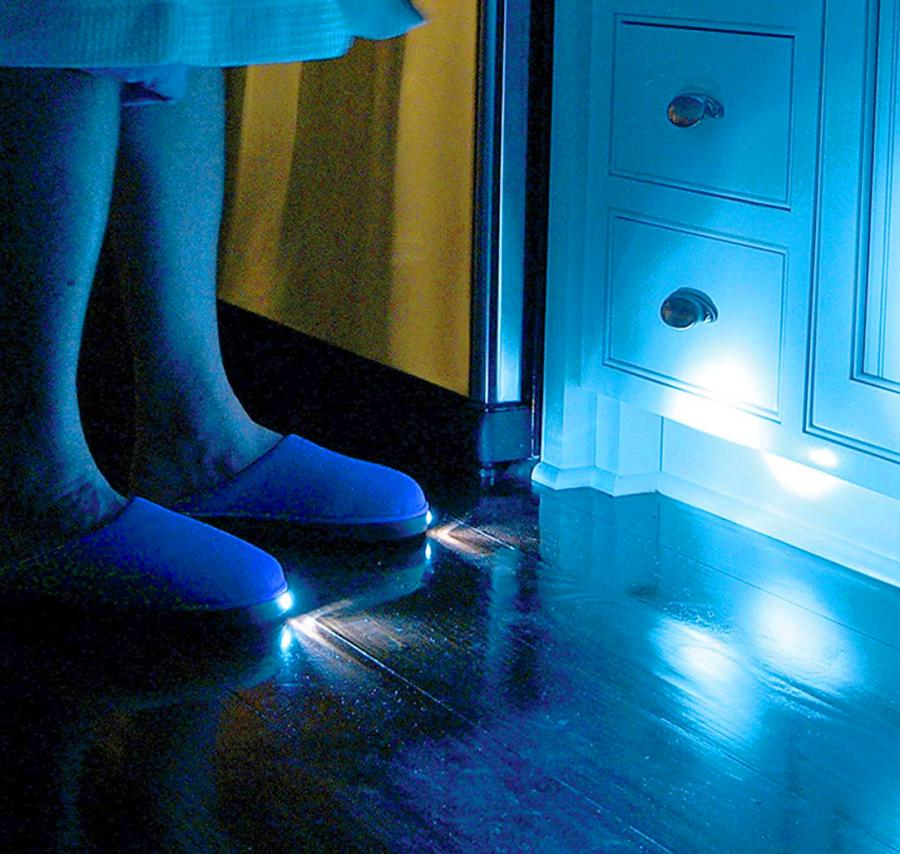 e08636fad3e Bright Feet Lighted Slippers - Flashlight Slippers Enlarge Image