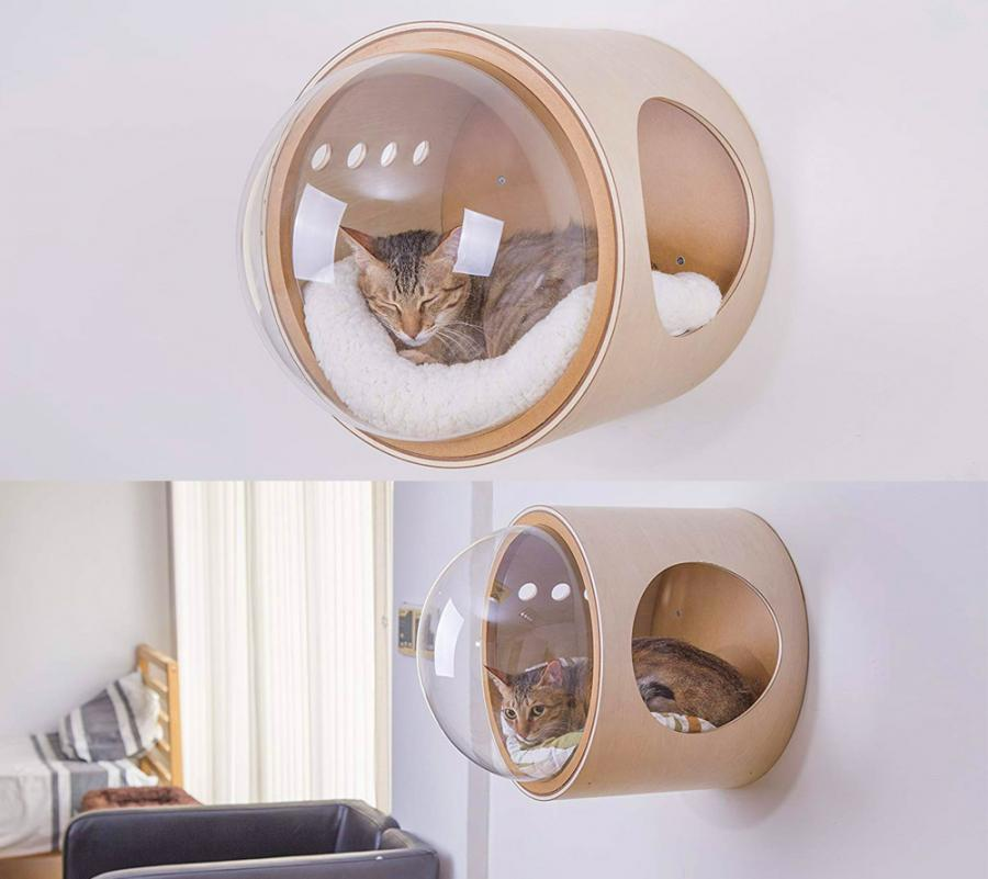 Bubble Window Wall Mounted Cat Bed