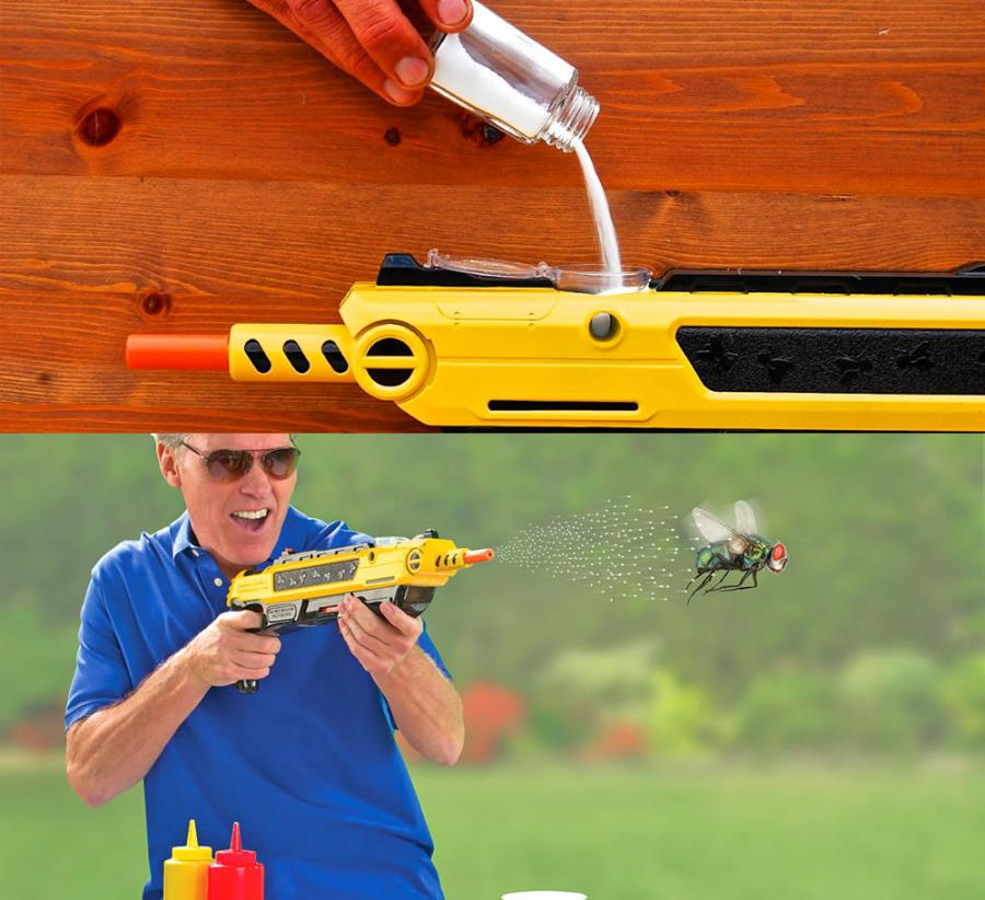 Bug-a-Salt Salt Gun Shoots Salt Pellets To Combat Bugs and Home Pests