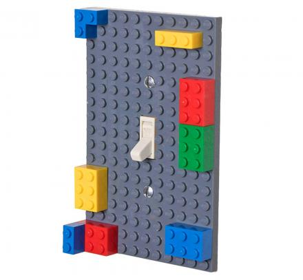Building Block Light Switch Lets You Attach Legos