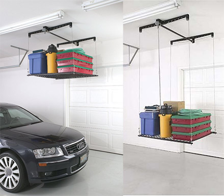 Pulley System Storage Rack For Your Garage