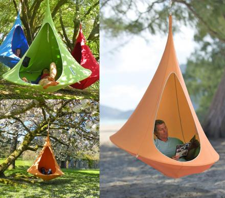 Cacoon: A Hanging Cocoon Private Hammock