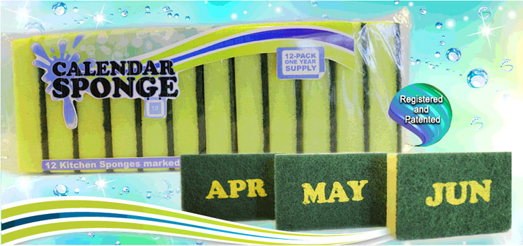 Sponges With Months Written On Them