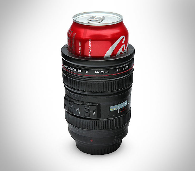Camera Lens Beer Koozie