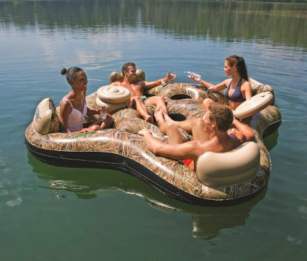 Camouflage Inflatable 4-Person Lake Floater
