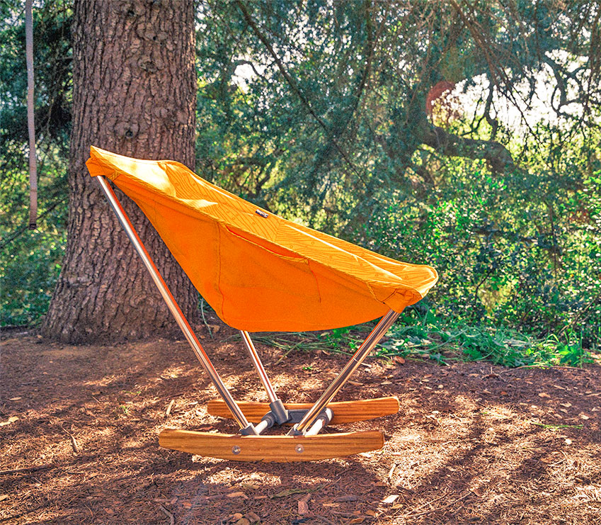 Evrgrn Campfire Fold Out Rocking Chair Enlarge Image