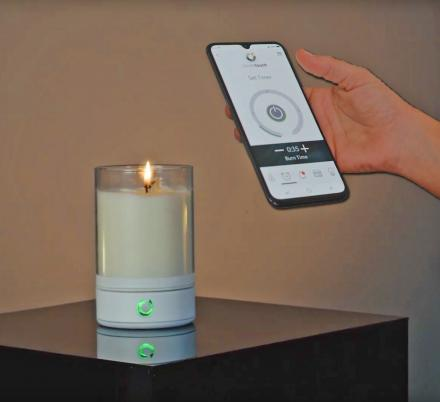 There's Now a Smart Candle That You Can Ignite With Your Smart Phone While On The Couch