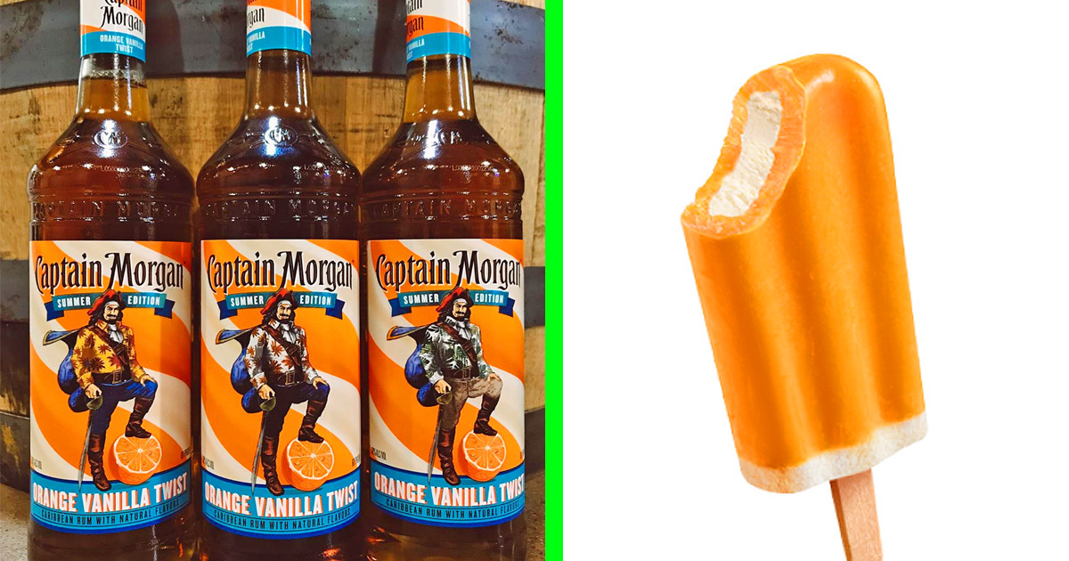Captain Morgan Has Just Come Out With a New Flavored Rum That Tastes Like Creamsicles
