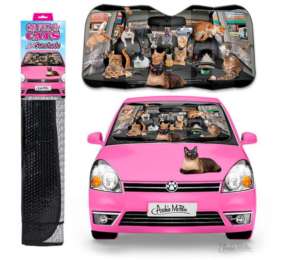 Car Full Of Cats Car Windshield Sunshade 792ce375e18
